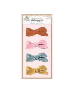 Marigold Velvet Adhesive Bows - Crate Paper*