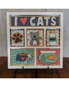 I Love Cats Shadow Box Kit - Foundations Décor