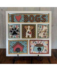 I Love Dogs Shadow Box Kit - Foundations Décor
