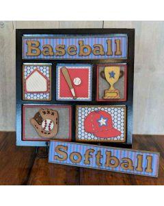 Baseball Shadow Box Kit - Foundations Décor