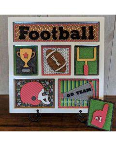 Football Shadow Box Kit - Foundations Décor