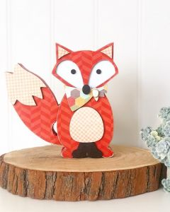 Fox Unfinished Wood Craft - Foundations Decor