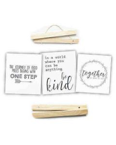 12-Inch Click Stick Set w/ Canvas Prints in Natural - Foundations Decor