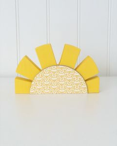 Summer Rising Sun Unfinished Wood Craft - Home - Foundations Decor