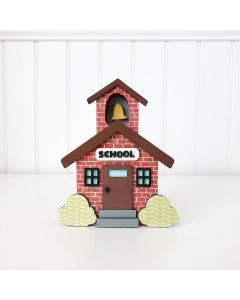 Time for Class Schoolhouse Unfinished Wood Craft - Home - Foundations Decor