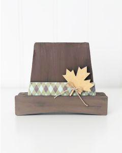 Capotain (Pilgrim Hat) Unfinished Wood Craft - Home - Foundations Decor
