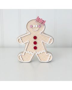 Gingy the Gingerbread Cookie Unfinished Wood Craft - Home - Foundations Decor