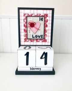 February: Valentines Day - Block Countdown - Foundations Decor
