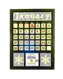 January Magnetic Calendar - Foundations Decor*