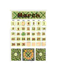 March Magnetic Calendar - Foundations Decor*