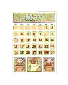 May Magnetic Calendar - Foundations Decor*