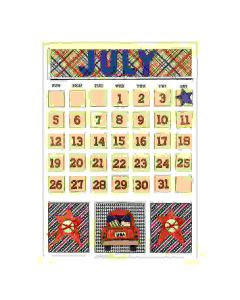 July Magnetic Calendar - Foundations Decor*