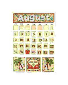 August Magnetic Calendar - Foundations Decor*