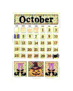 October Magnetic Calendar - Foundations Decor*