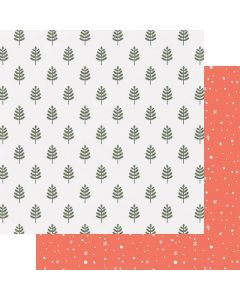 """Woodland 12"""" x 12"""" Paper - Home for Christmas - Renne Looney - Fancy Pants Designs"""