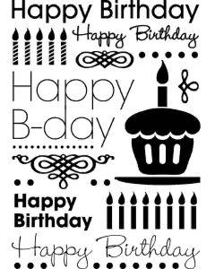 Cgull 12-0013 Embossing Folder Happy Birthday