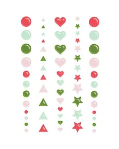 Home for Christmas Puffy Dots - Renne Looney - Fancy Pants Designs