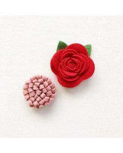 Home for Christmas Felt Flowers - Renne Looney - Fancy Pants Designs