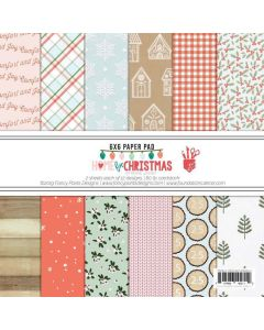 """Home for Christmas 6"""" x 6"""" Paper Pad - Renne Looney - Fancy Pants Designs"""