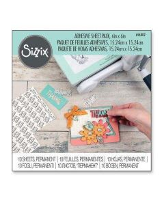 "Permanent Adhesive Sheets 6"" x 6"" (10 Pack) - Sizzix"