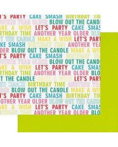"Birthday Wishes 12"" x 12"" Paper - Cake Smash - Fancy Pants Designs"