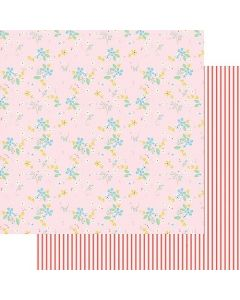 """Sweet Floral 12"""" x 12"""" Paper - A Cherry On Top - Fancy Pants Designs"""