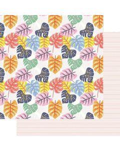 """Tropical Leaves 12"""" x 12"""" Paper - Vitamin Sea - Renne Looney - Fancy Pants Designs"""