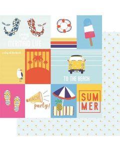 "Cut Apart 12"" x 12"" Paper - Vitamin Sea - Renne Looney - Fancy Pants Designs"