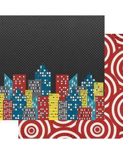 "Cityscape 12"" x 12"" Paper - Sidekick Optional - Amber Labau - Fancy Pants Designs"