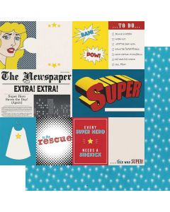 "Hero Cut-Apart 12"" x 12"" Paper - Sidekick Optional - Amber Labau - Fancy Pants Designs"