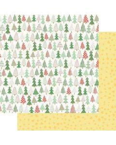 "Christmas Trees 12"" x 12"" Paper - Wishmas - Jodi Sanford - Fancy Pants Designs"