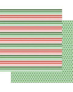 """Christmas Stripes 12"""" x 12"""" Paper - Wishmas - Jodi Sanford - Fancy Pants Designs"""