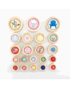 Peachy Keen Wood Buttons - Foundations Decor*