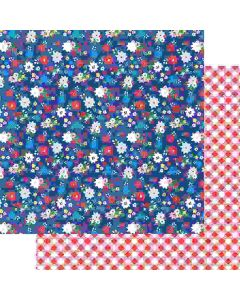 "Fresh Picked 12"" x 12"" Paper - Hometown Summer - Renne Looney - Fancy Pants Designs"