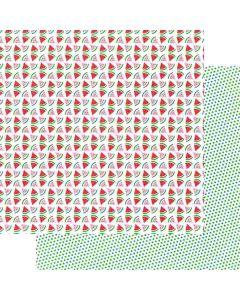 """Slice of Summer 12"""" x 12"""" Paper - Hometown Summer - Renne Looney - Fancy Pants Designs"""
