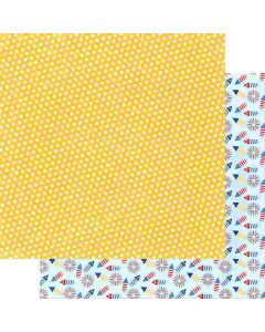 "Sunny Days 12"" x 12"" Paper - Hometown Summer - Renne Looney - Fancy Pants Designs"