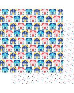 """Hometown 12"""" x 12"""" Paper - Hometown Summer - Renne Looney - Fancy Pants Designs"""