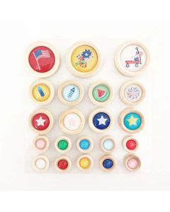 Hometown Summer Wood Buttons - Renne Looney - Fancy Pants Designs