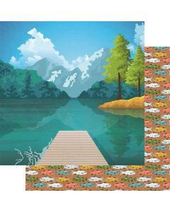 """What a View 12"""" x 12"""" Paper - Lake Life - Fancy Pants Designs"""
