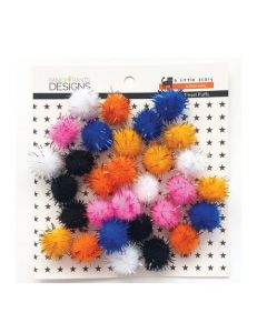 A Little Scary Tinsel Puffs - Fancy Pants Designs