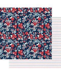 "Love Blooms 12"" x 12"" Paper - My Type - Fancy Pants Designs"