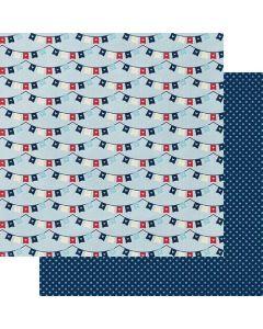"A Banner Love 12"" x 12"" Paper - My Type - Fancy Pants Designs"