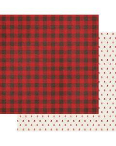 "Checking It Twice 12"" x 12"" Paper - Cozy Christmas - Fancy Pants Designs"