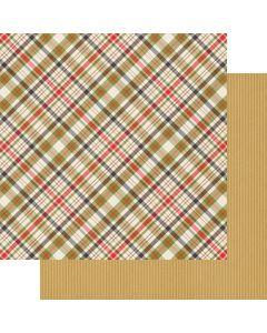 """Plaid Tidings 12"""" x 12"""" Paper - Cozy Christmas - Fancy Pants Designs"""