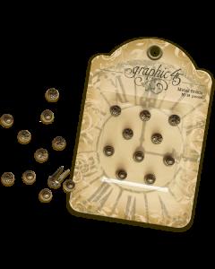 Antique Brass Stamped Metal Brads - Graphic 45