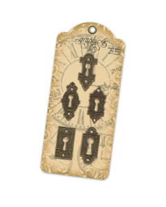 Antique Brass Ornate Metal Key Holes - Graphic 45