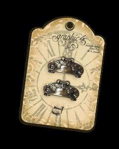 Antique Brass Door Pulls - Graphic 45