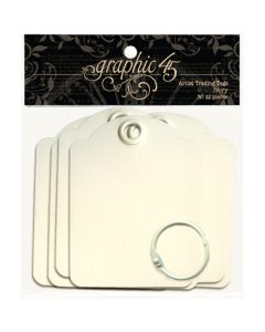 Ivory Artist Trading Tags - Staples - Graphic 45