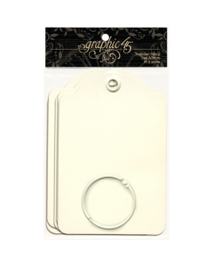 Ivory Regular Tags - Staples - Graphic 45