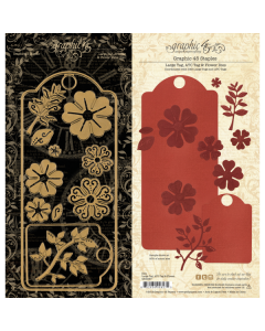 Large Tag, ATC Tag, & Flower Dies - Staples - Graphic 45